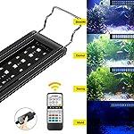 IREENUO-LED-Aquarium-Beleuchtung-Aquarium-Licht-Lamp-mit-Verstellbarer-Halterung-Fernbedienung-Lampe-fr-Reef-Coral-Wasserpflanzen-und-Fischzucht-Anzug-fr-Fish-Tanks-Lnge-30-50-cm