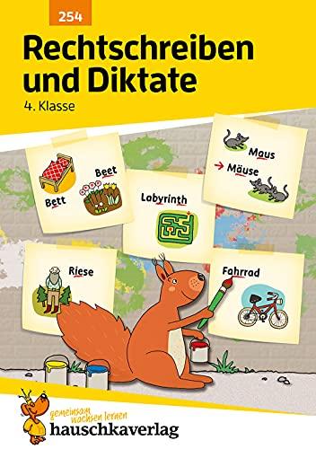 Rechtschreiben und Diktate 4. Klasse, A5- Heft (Deutsch: Rechtschreiben und Diktate, Band 254)