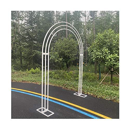 Arco de Rosas, Pérgola de Jardín para Maceteros, Decoración Fiesta de Boda, Diámetro de la Tubería 20 mm, W 190cm