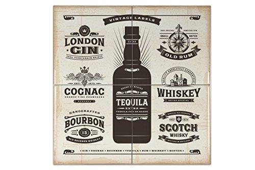 Azulejo Bar Party Tequila Ceramica impreso 15x15 cm