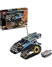 LEGO 42095 Technic zdalnie sterowana zabawka Stunt-Racer do samochodów wyścigowych 2 w 1, model z funkcją silnika, kolekcja samochodów wyścigowych