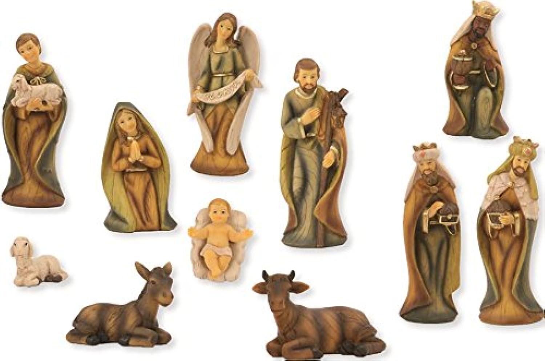 Krippenfigur, Krippenfiguren Krippenfiguren Krippenfiguren modern 11-teilig, Holzoptik für 9cm Figuren B01LYJ7O0R 267644