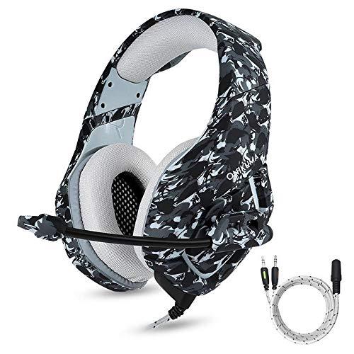 Auriculares para juegos Auricular estéreo bajo envolvente for juegos de PC del juego de auriculares auriculares con micrófono for PC del teléfono móvil for PS4 Xbox One D40 Casco para juegos PS4