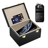Kolaura Faraday Box for Car Keys Signal Blocker Shielding Box, Faraday Key Fob Protector Box, RFID Blocking Key Box for Phone , Cards with Car Security Key Pouch