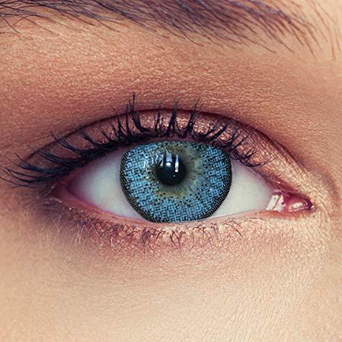 2 Blaue Kontaktlinsen mit Stärke -0,50