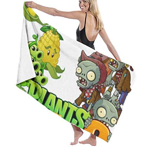 ghjkuyt412 Bath Towel,80X130Cm Plants Vs Zombies Bath Towels Super Absorbent Beach Bathroom Towels for Gym Beach SWM Spa