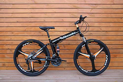 Foldable Sports MTB Cycle with 21 Derailleurs (Gears) in Black