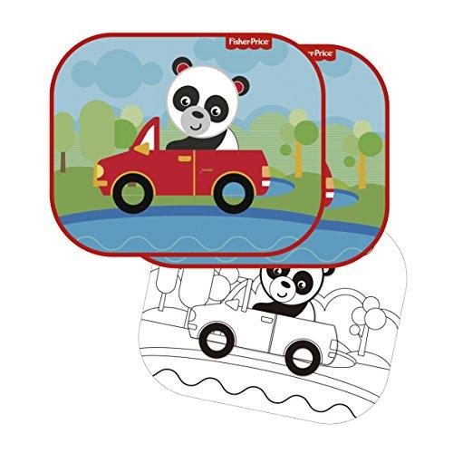 Fisher-Price Fp10169 zonnescherm (2 stuks) Panda Designs, meerkleurig - Elemed