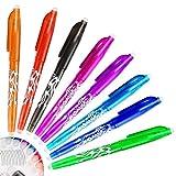 IGRMVIN 8 Stück Gelschreiber Set Radierbar Tintenroller Stift Multicolor Frixion Stifte mit Löschbarer Tinte Radiergummi Gelstifte Set für Erwachsene Kinder Studenten Schule Büromaterial (0.5)