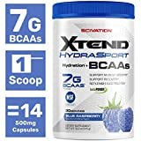Scivation XTEND Sport BCAA Powder Blue raspberry | NSF Certified for Sport + Sugar Free Post Workout...
