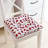 KingMSPG Juego de 4 cojines suaves para sillas con lazos, 40/45 cm de grosor, cojines de asiento de cocina, cojines suaves para jardín y oficina (4 piezas de 40 x 40 cm, O)
