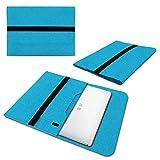 UC-Express Laptop Schutzhülle kompatibel für Trekstor Surftab Theatre 13,3 Sleeve Hülle Tasche aus Filz mit Innentaschen Cover Notebook Hülle, Farbe:Türkis