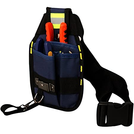 Multifunctional Electrician\/'s Tool Bag Black Waist Pocket Belt Storage Tool Bag