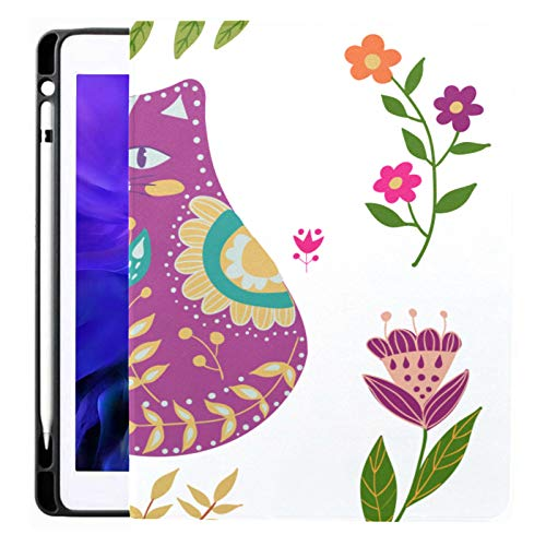 Ipad Pro 12.9 Case 2020 & 2018 With Pencil Holder Folk Colorful Beautiful Smart Cover Ipad Case, Supports 2nd Gen Pencil Charging,case For 2020 Ipad Pro 12.9 Cover With Auto Sleep/wake