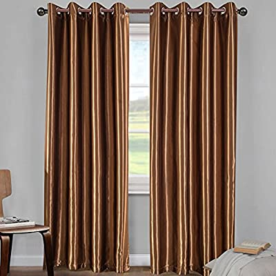 Blackout Window Curtain Panel for Bedroom and Living Room Thermal Insulated Grommet Top Drapes 1 pane