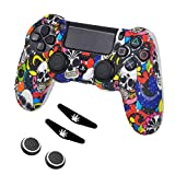 Taifond Anti-Slip Silicone Controller Cover Protective Skins for PS4/SLIM/PRO Controller (Color Skull)