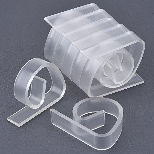 12 Packung Kunststoff Tischtuchklammern Tischklammern Tischdecke Tischdecke Clips Halter Klemmen für Party Picknick (Klar)