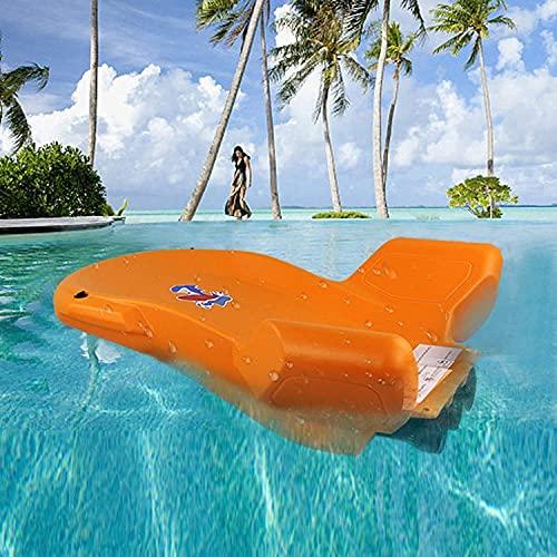 Tabla de Surf de niños, Scooter eléctrico Submarino, Scooter de Paquetes de mar, Tabla de natación de Agua para Nadar/Surf/inmersiones Poco Profundas, Tres hélices BJY969 (Color : Orange)