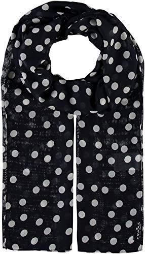 FRAAS Damen-Schal mit Punkte-Muster - perfekt für Frühling und Sommer - luftiges Mode-Accessoire Navy