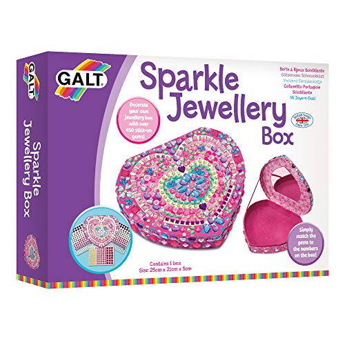 Galt Toys, Sparkle Jewellery Box, Kids' Craft Kits, Ages 6 Years Plus