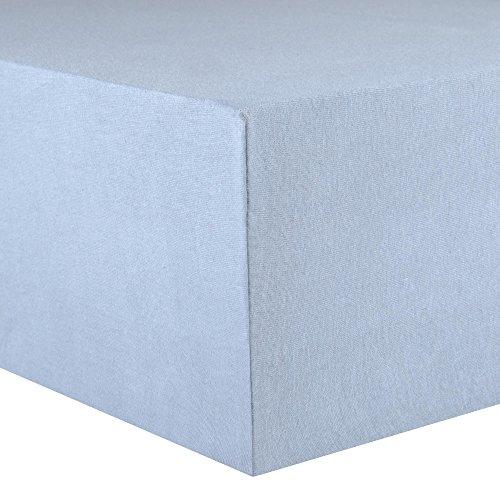 CelinaTex Lucina Spannbettlaken 180×200 – 200×200 aqua blau Jersey Baumwolle Spannbetttuch Doppelbett Matratzen 0002806 - 2