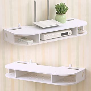ESGT Casiers étagères et tiroirs Rangement TV Boîte De Rangement pour Routeur Cloison Murale Support De Chambre À Coucher ...