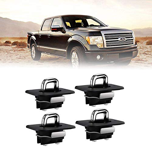 Dibanyou 4pcs 4001-XT Tie Down Anchors Truck Bed Side Wall Anchors Fits 98-14 F...
