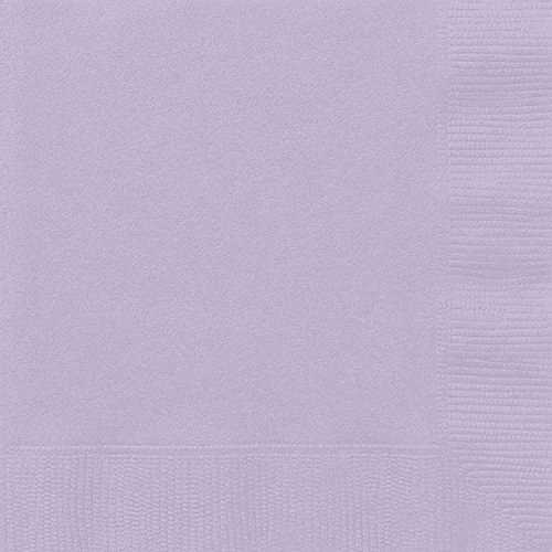 Unique Party Supplies Papierservietten, 16,5 cm, Lavendel, 50 Stück