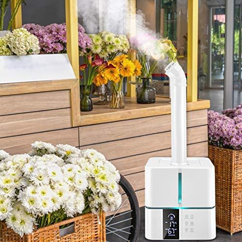 InLoveArts Humidificador Ultrasónico,5L Humidificadores de Niebla fría Gran Capacidad con Control Remoto con Función de Sincronización,Apagado automático,floristerías, mercados verduras, supermercados