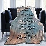 WKZYZ Healing Throw Blanket Bible Verse Soft Throw Blanket Inspirational Blanket Religious Gifts Inspirational Gifts for Women 40x50 Inch Blankets Caring Gift for Men & Women