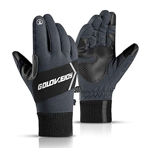 CosyInSofa wasserdichte Thermo-Handschuhe, Winddichte Winterhandschuhe, Touchscreen, rutschfeste Handschuhe, Fahrradhandschuhe, Laufhandschuhe, Outdoor, Freizeit, Skifahren, Radfahren
