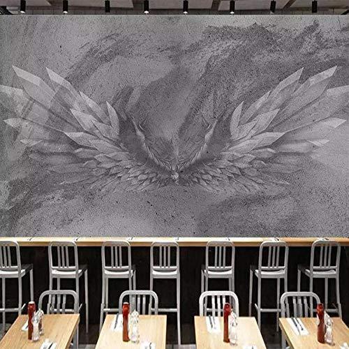 3D Papel Pintado Fotográfico 300(W)X210(H) cm Alas grises Salón Dormitorio Despacho Pasillo Decoración murales decoración de paredes moderna