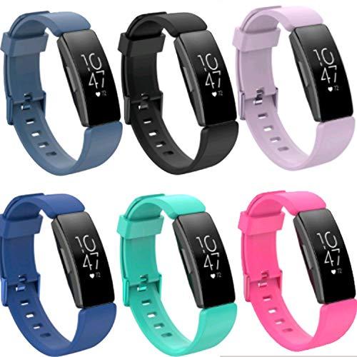 Ruentech Kompatibel mit Fitbit Ace 2 Kids Activity Tracker Strap Band Ersatz Bunte & Größe Armband Kompatibel mit Fitbit Ace 2 Sport Smartwatch Accessroies (6-B, SMall)