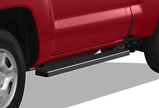 APS iBoard Running Boards 5 inches Matte Black Custom Fit 2005-2020 Toyota Tacoma Standard Cab Pickup 2-Door (Nerf Bars Side Steps Side Bars)