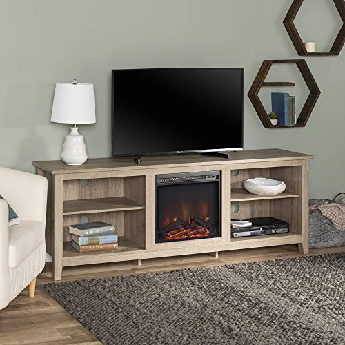 Walker Edison Fireplace Universal TV Stand