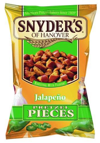 Snyder's Pretzel Pieces – Jalapeno, Leckeres Bretzelgebäck – Salziger Knabberspaß  - 125g - 10er Pack (10x 125 g Tüte)