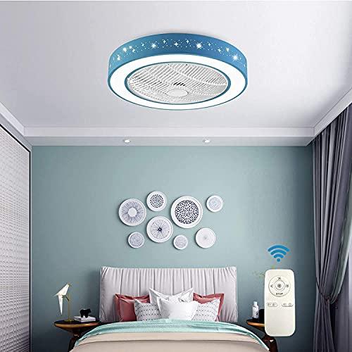 QWQW Lámpara de Techo Ventilador de Techo Invisible con iluminación LED y Control Remoto Ventilador silencioso Luz de Techo Regulable Ventiladores de Techo Iluminación para Sala de Estar Dormitorio