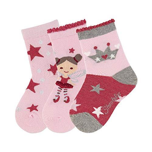 Sterntaler Unisex Baby Socken Söckchen 3er-pack Sterne, Rosa, 30