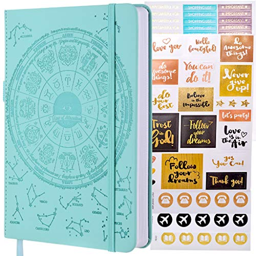 Law of Attraction Life & Goal Planner - Undated Deluxe Day Planner - Personal Gratitude Journal, Week Success Planner, Vision Board & Organizer + Planner Stickers