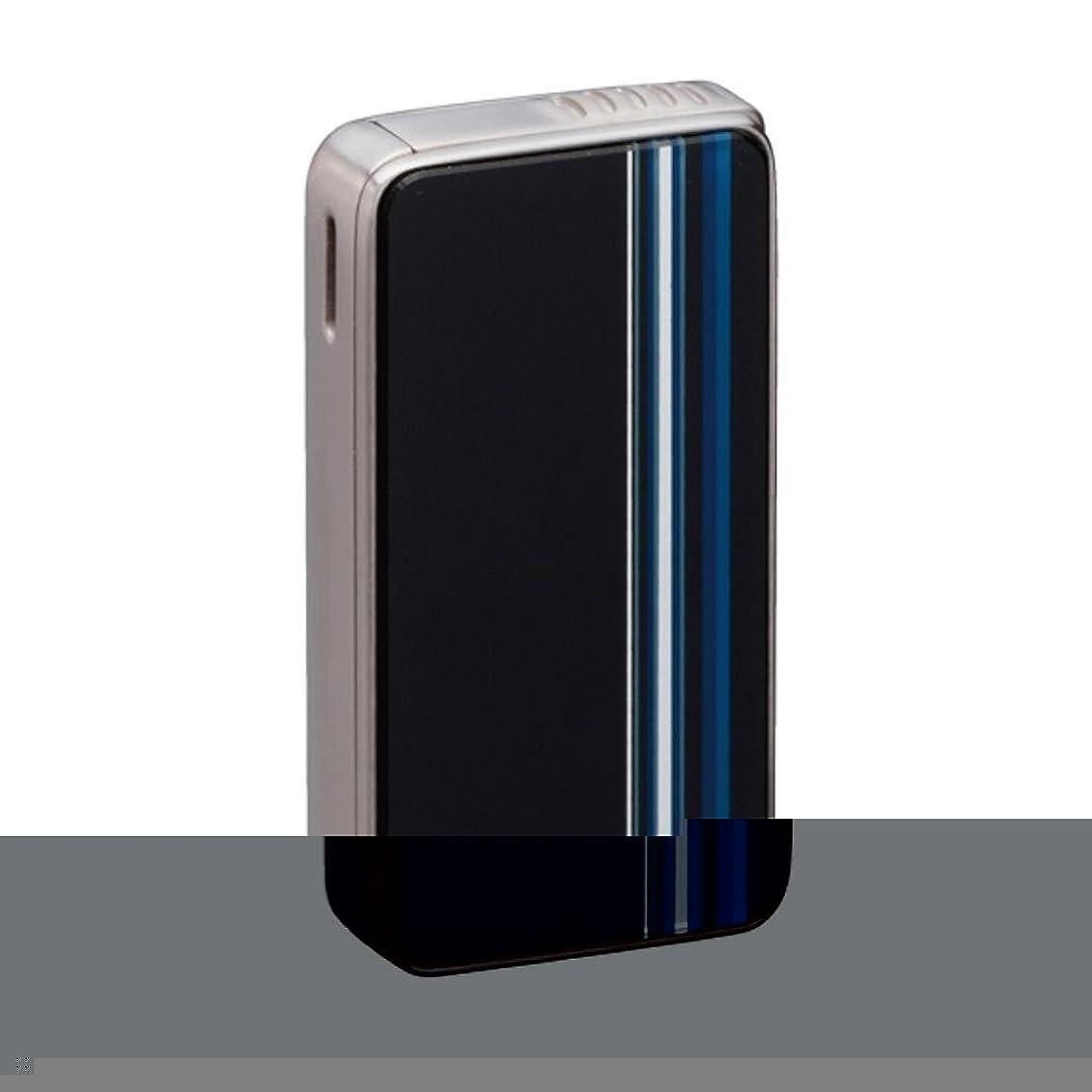 デマンドオーストラリア人電圧SAROME(サロメ) 電子 ガス ライター SK161-01 ブラック/ブルーストライプ SK161-01