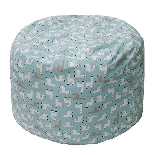QLPXY Kinder Lagerung Sitzsack, Großes Fassungsvermögen Soft Toy Bean Bag Chair Für Kinder, Jugendliche Und Erwachsene, Nur Abdeckung Tasche (B)