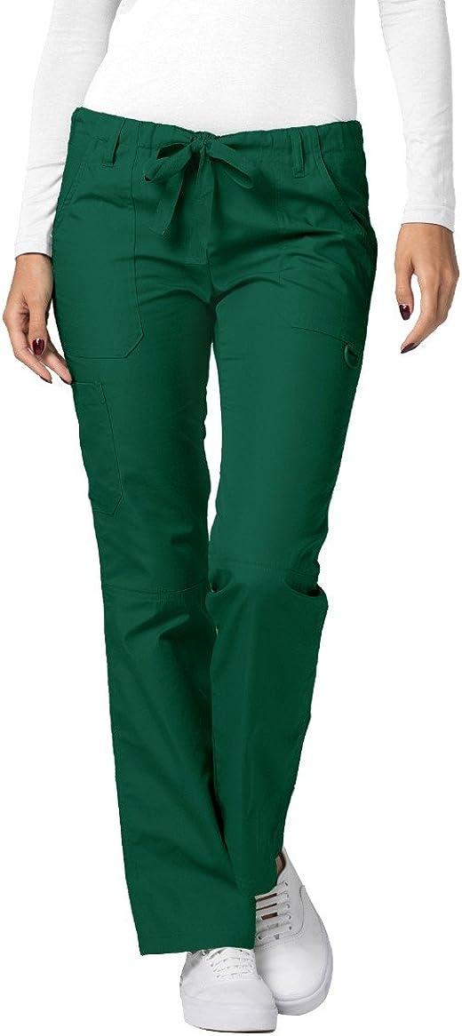 Adar Uniforme m/édico para Mujer Top y Pantalones m/édicos con m/últiples Bolsillos