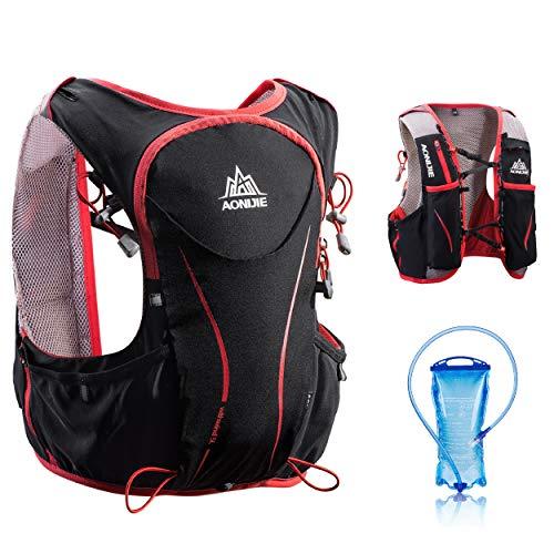 TRIWONDER Trinkrucksack 5L Leichter Deluxe Marathonlaufrennen Trinkrucksack (Schwarz (S-M) - mit 1.5L Wasserblase)