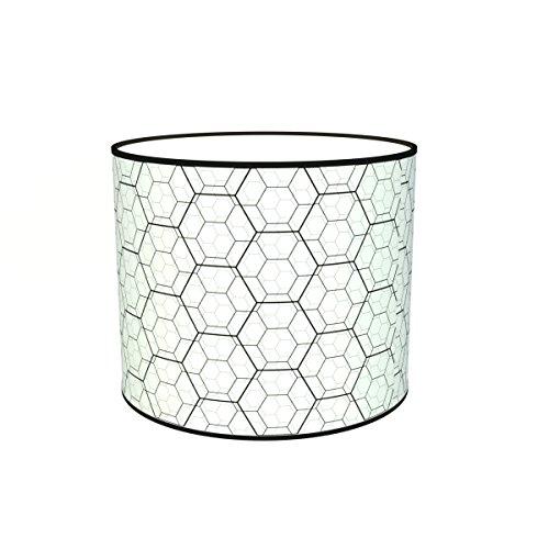 Abat-jours 7111301728715 Imprimé Karo Lampe de Chevet, Tissus/PVC, Multicolore