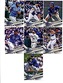 2012, 2013, 2014, 2015, 2016, 2017, 2018 Topps Baseball Card Team Sets (Complete Series 1 & 2 From All 7 Years) 150+ Kansas City Royals inc. Mike Moustakas, Lorenzo Cain, Kendrys Morales, Alcides Escobar, Salvador Perez, Danny Duffy, Eric Hosmer, Rookies, in 7 acrylic cases