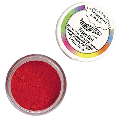 Rainbow Dust - Puderfarben Poppy Red 4 g