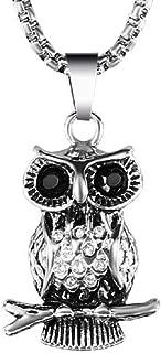 HoBST Vintage Owl Necklace Healing Pendant Chain Necklaces Men