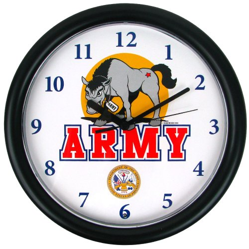 Trademark Global NCAA Deluxe Chiming U.S. Army Uhr mit Mule Maskottchen