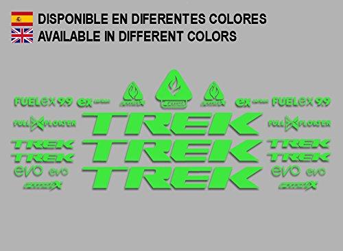 Ecoshirt 48-S05O-XLCJ sticker Trek Fuel Ex 9.9 Bikes F144, groen