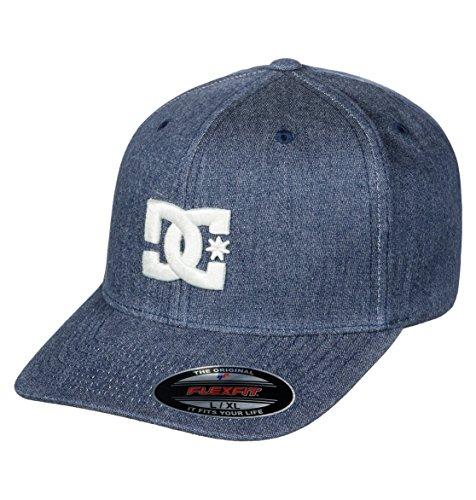 DC Shoes Capstar TX - Gorra Flexfit para Hombre Gorra Flexfit®, Hombre, Dark Indigo, L/XL